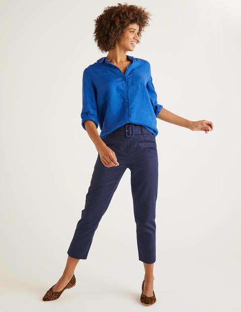 Cobalt Blue Linen Shirt - Cobalt