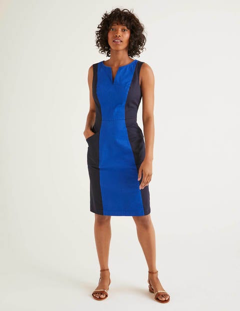 Helena Chino Dress - Bright Blue Colourblock