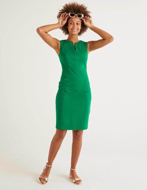 Helena Chino Dress - Rich Emerald