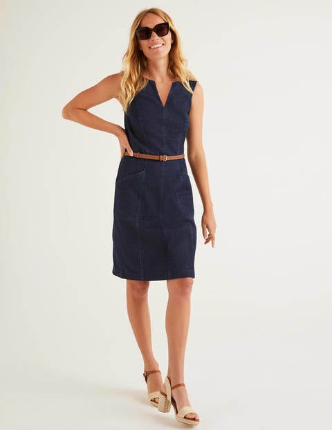 Helena Chino Dress - Rinse Indigo