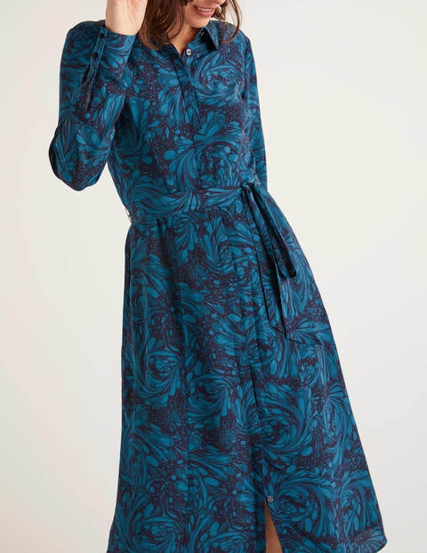robe chemise motif soie