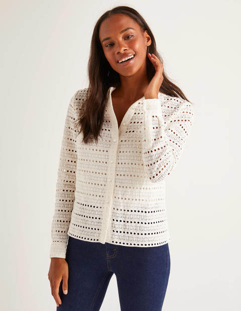 Macie Lace Shirt - Ivory