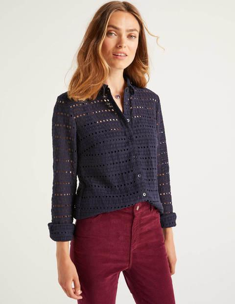 Macie Lace Shirt - Navy