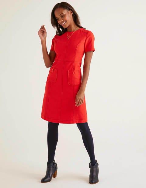 boden - Clara Texturiertes Kleid Red Damen , Red