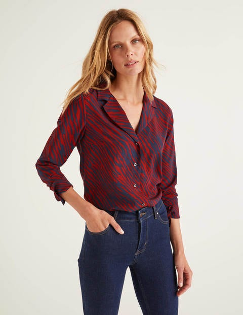 Tamara Blouse - Poinsettia, Safari