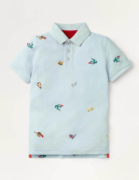 Piqué Polo Shirt - Provence Blue Embroidery