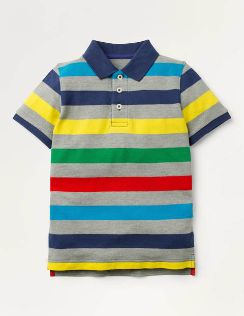 Piqué Polo Shirt - Grey Marl Multi
