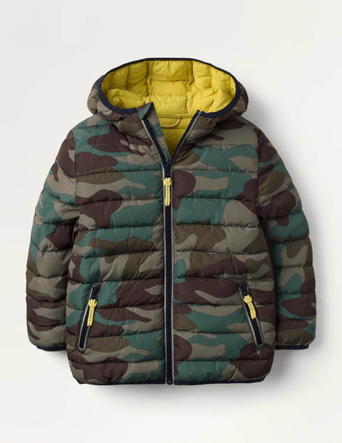 Cosy Pack-away Padded Jacket - Green Camouflage