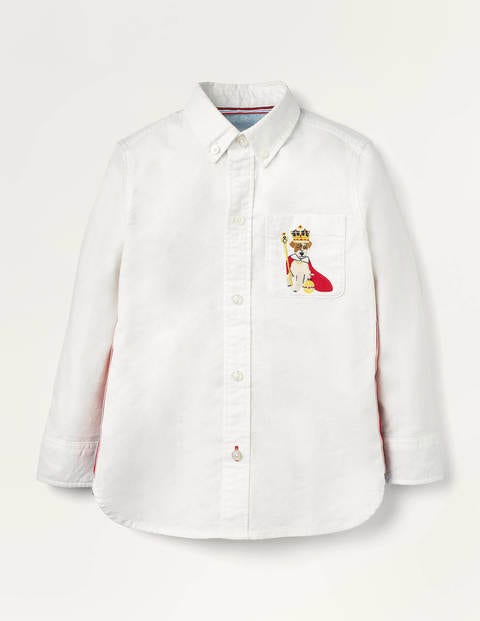 Embroidered Oxford Shirt - White Oxford Sprout