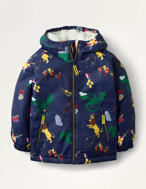 Cosy Sherpa-lined Anorak - College Navy Sprout Quest