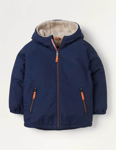 Cosy Sherpa-lined Anorak - College Navy