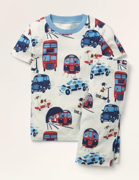 Cosy Short John Pajamas - Ivory London Sprout