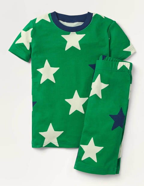 Glow-in-the-dark Short Pajamas - Highland Green Star