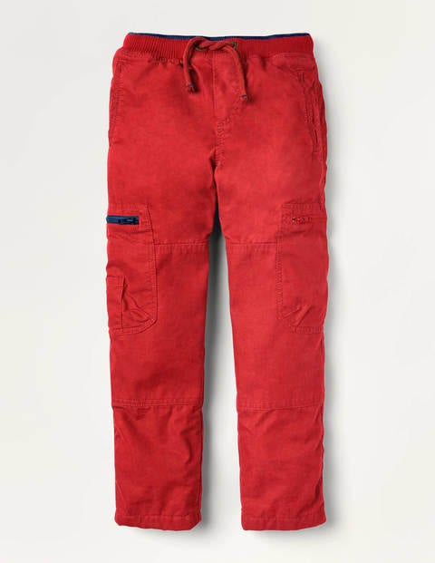 Cosy Lined Cargo Pants - Rockabilly Red