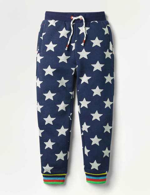 Printed Joggers - College Navy Star
