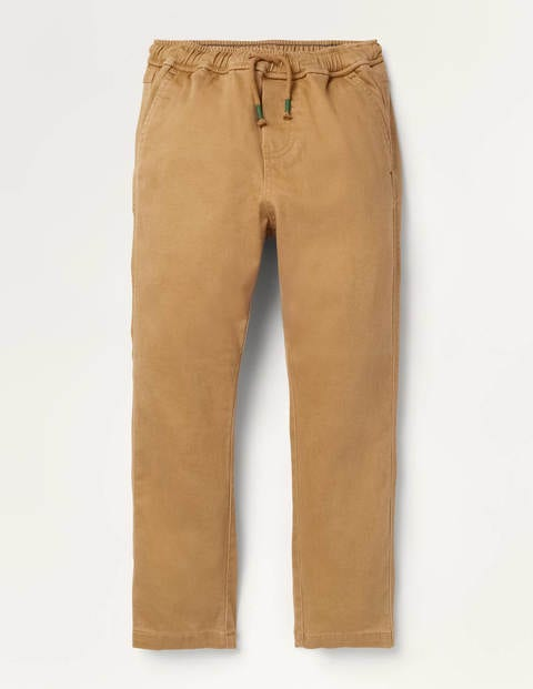 Relaxed Slim Pull-on Pants - Butterscotch Brown