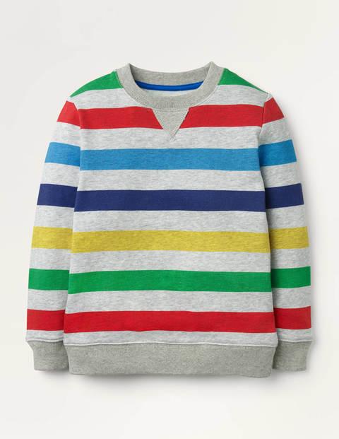 Cosy Printed Sweatshirt - Grey Marl Rainbow