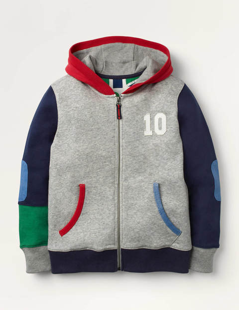 Sporty Zip-up Hoodie - Grey Marl Jaspe
