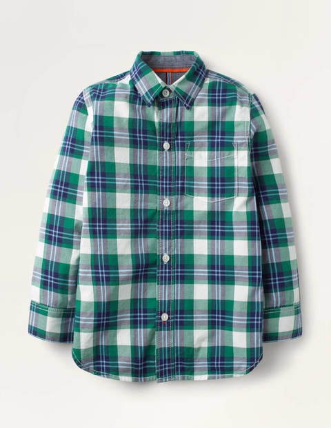 Casual Twill Shirt - Blue Green