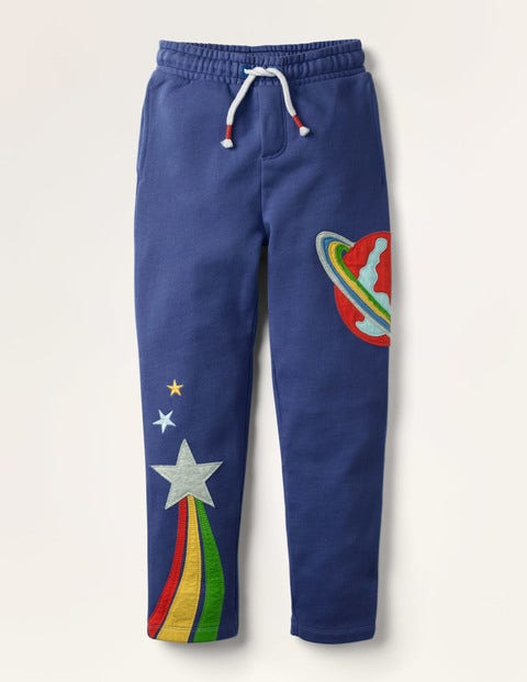 Appliqué Joggers - Starboard Blue Space