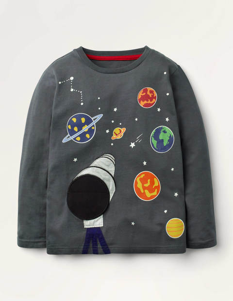 Glowing Novelty T-shirt - Smoke Grey Telescope