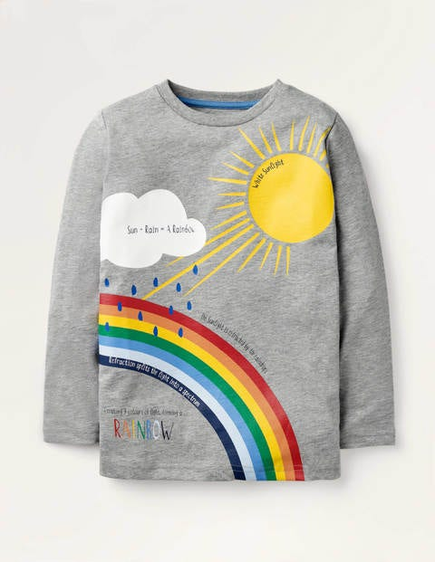 Nature Facts T-shirt - Grey Marl Rainbow
