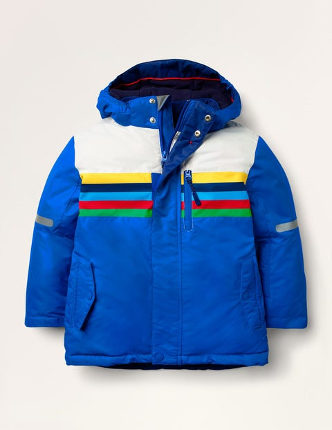 All-weather Waterproof Jacket - Bright Blue Polar Bear