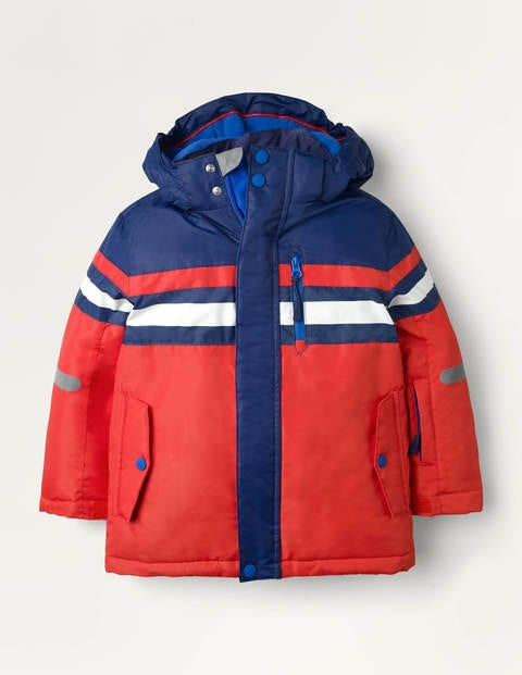 All-weather Waterproof Jacket - Red Colourblock