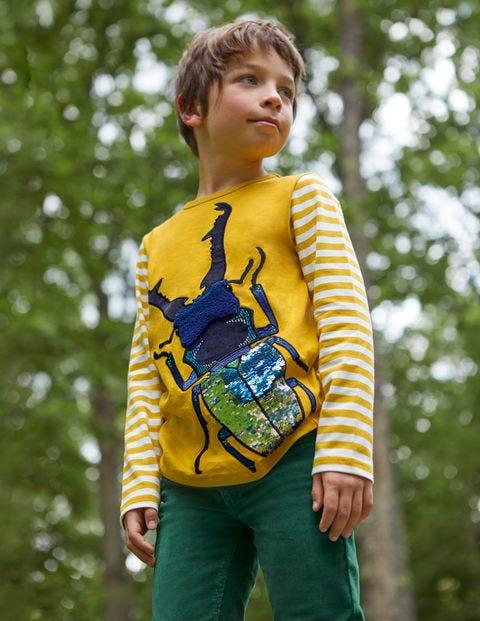 Woodland Sequin T-shirt - Honeycomb Yellow Beetle