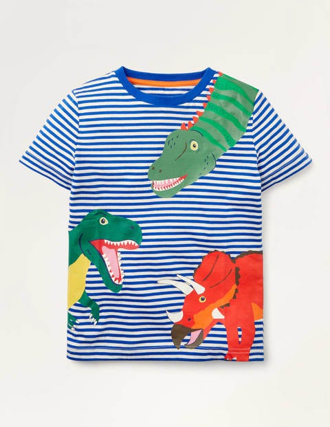 Peeking Animals Stripe T-shirt