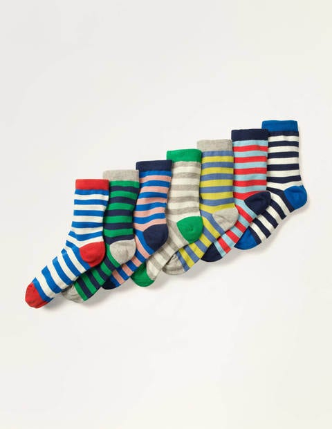 7 Pack Sock Box - Multi Stripes
