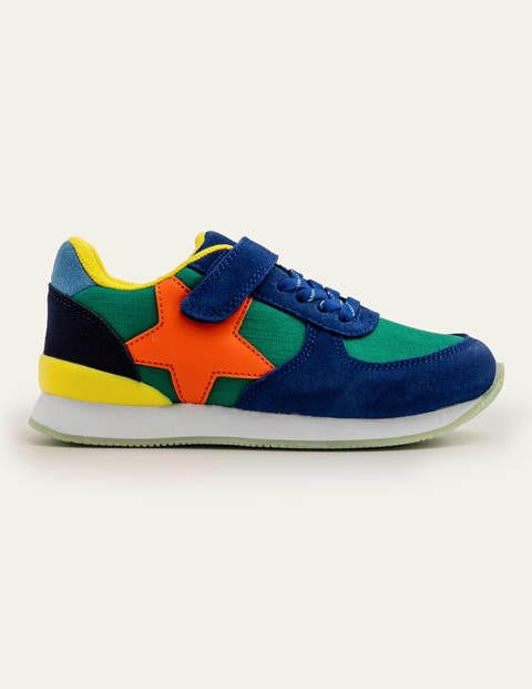 Suede Sneakers - Forest Green Multi