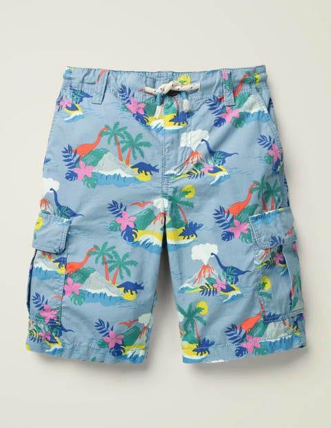 Cargo Shorts - Wren Blue Dino Island