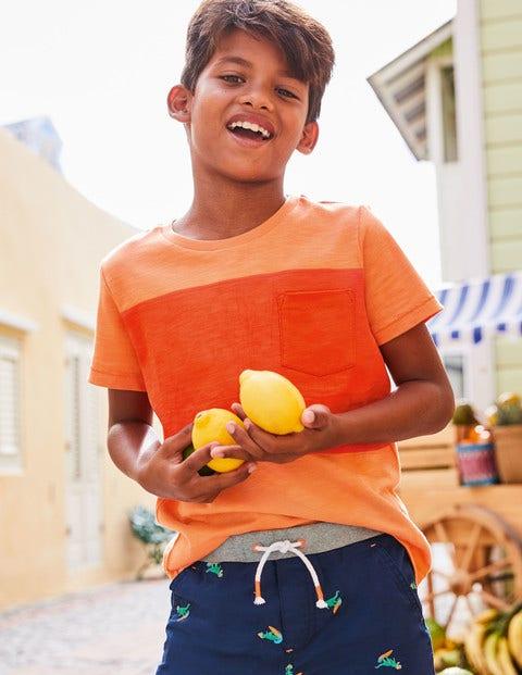Colourblock T-Shirt - Papaya Punch Orange