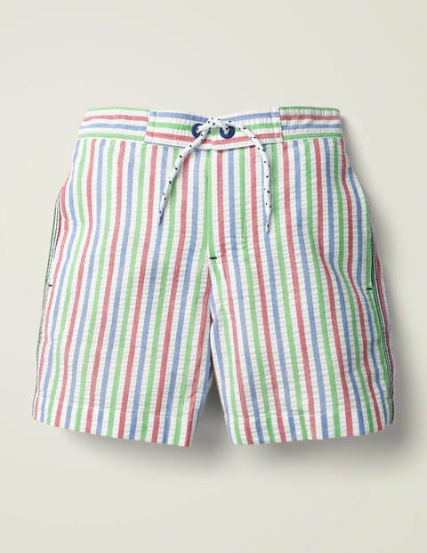Gingham Swim Shorts - Green Multi