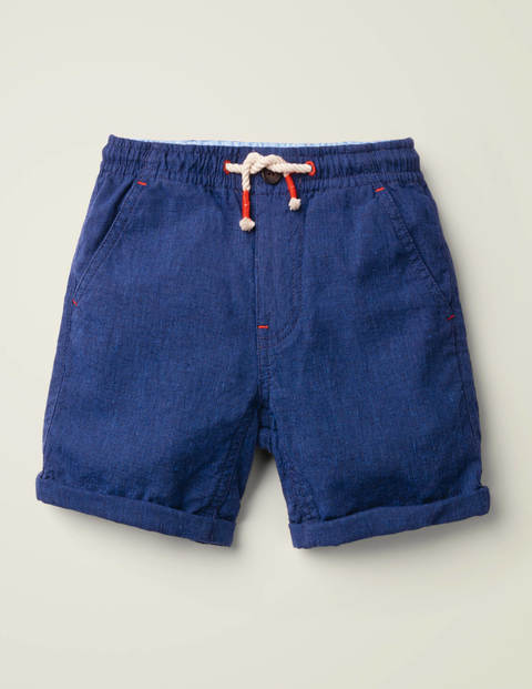 Cotton Linen Roll-up Shorts