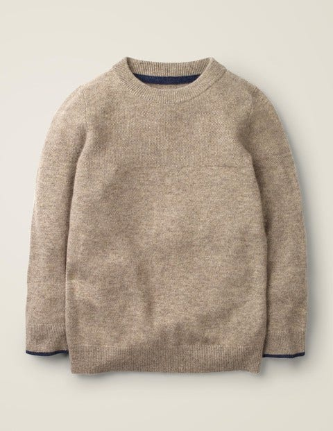 Cashmere Crew Sweater - Oatmeal Marl