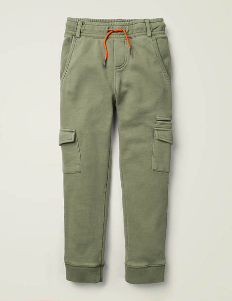 Garment-Dyed Joggers - Herb Green