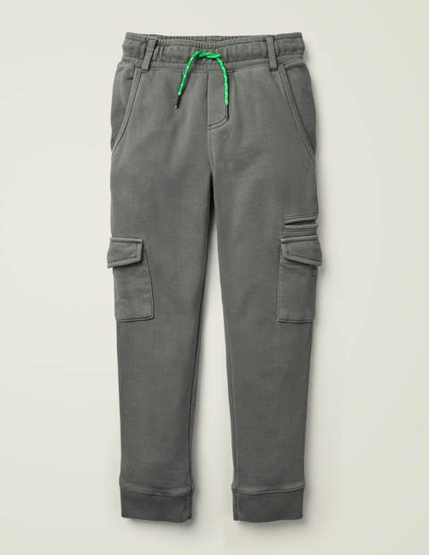 Garment-Dyed Joggers - Smoke Grey