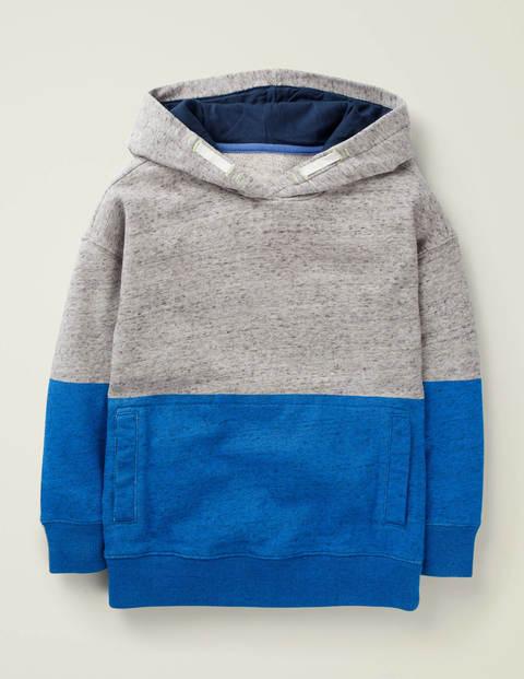 Bequemer Hoodie mit überschnittener Schulter - Kräftiges Blau