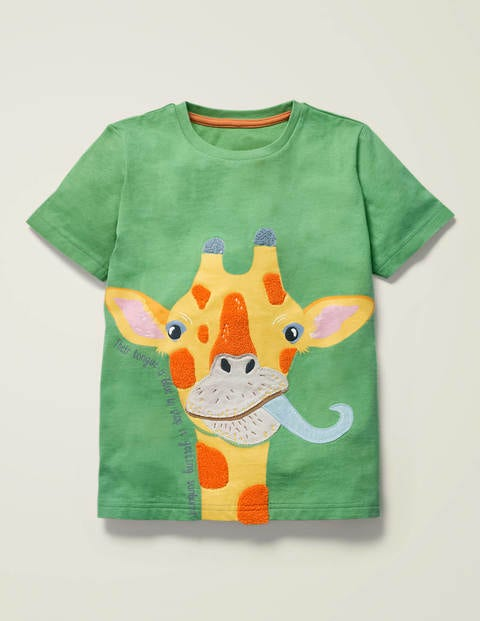 GIRAFFE PERSONALISED BABY T-SHIRT GREAT GIFT FOR ANY CHILD /& NAMED TOO