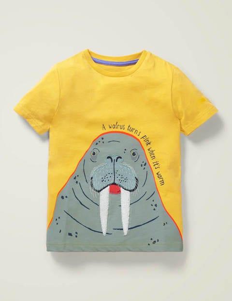 T-shirt à appliqué infos animal