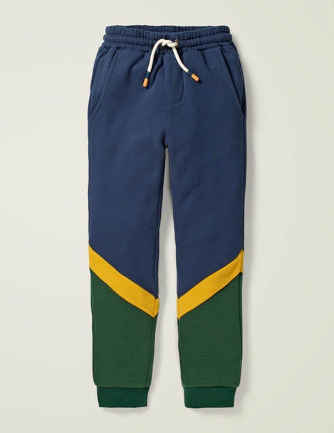 Cosy Colourblock Joggers - College Navy