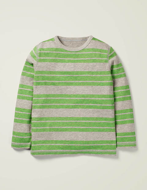 Striped Marl T-Shirt - Grey Marl/Andean Toucan Green