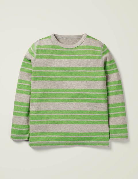 Meliertes T-Shirt mit Streifen