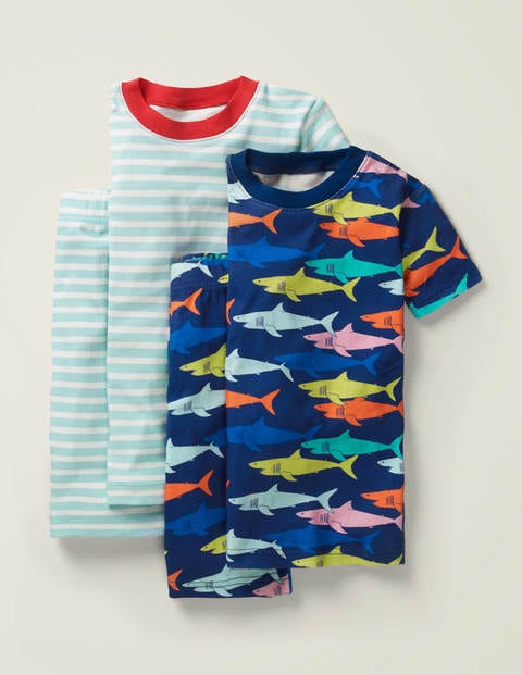 Twin Pack Short Pyjamas - Rainbow Sharks