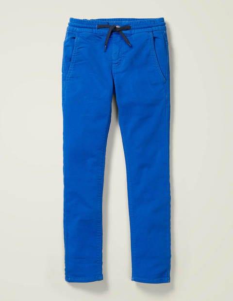 Schmal geschnittene Jersey-Jeans - Kräftiges Blau