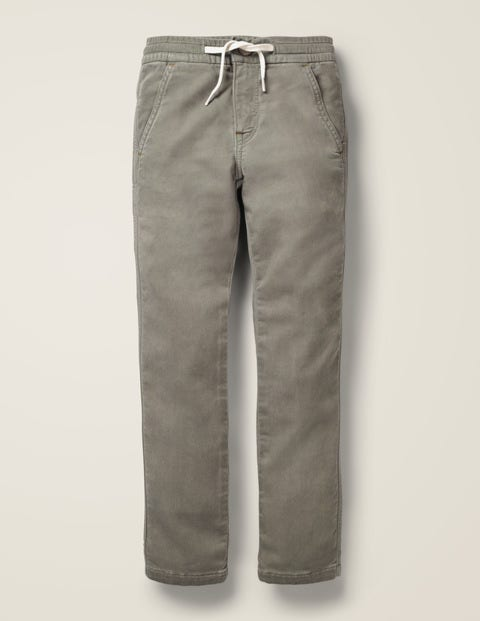 Jersey Skinny Jeans - Grey Denim