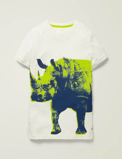 Photographic Animal T-Shirt - Ivory Rhino