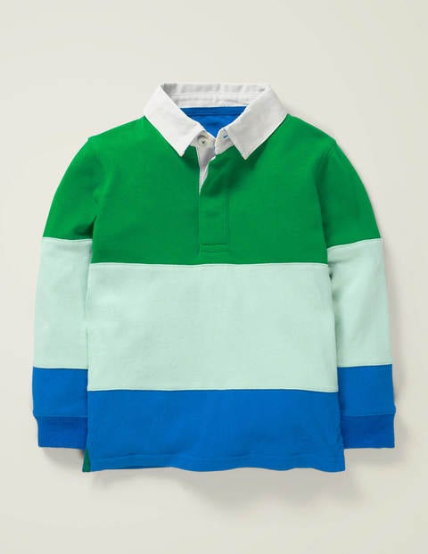 Rugby Shirt - Rich Emerald Green/Bold Blue